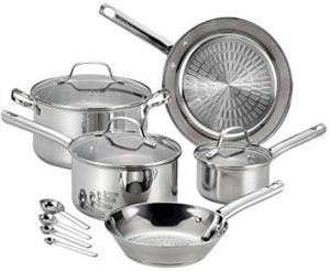 T-fal pans for ceramic hobs -Performa stainless steel cookware set