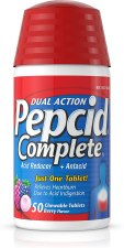 Pepcid chewable tablets for the fast relief of heartburn