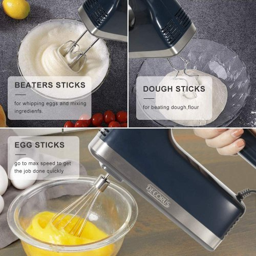 Handheld electric hand mixer for cookie dough