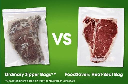 ordinary zipper bags vs. foodsaver heat seal bags