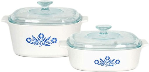 Limited Edition of the Blue Cornflower Corningware Pyroceram cookware set for stovetop