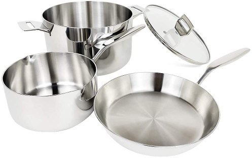 Cookpad lightweight stainless steel pots and pans