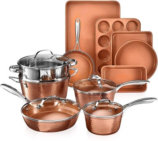 Gotham lightweight pots and pans for arthritis hands
