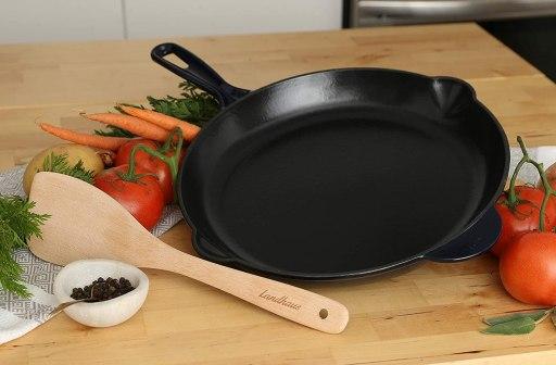Landhaus enameled cast iron fry pan and skillet