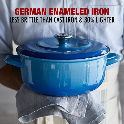 Best Lightweight German enameled cast iron Dutch oven and skillet