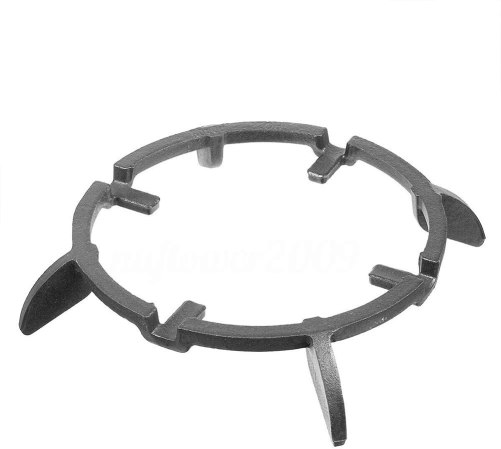 Wok pan support for gas stove
