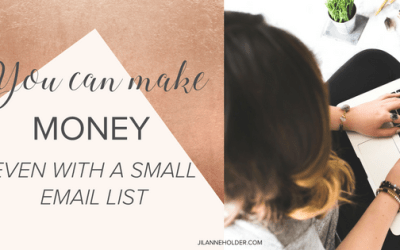 You can make money even with a small email list