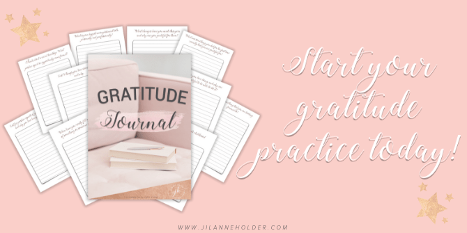 Pay what you want and grab my gratitude journal to help you get started