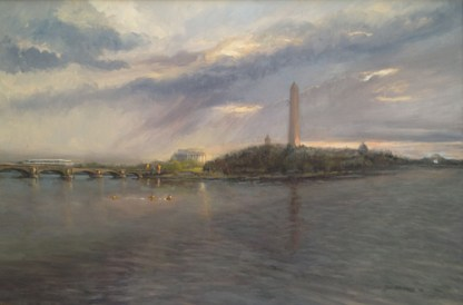 "Washington D.C. Oil on Linen, 24"" x 36"", collection of James and Patrice Comey"