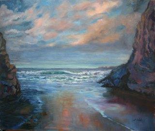 "Interlude, oil on canvas, 16"" x 20"""
