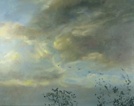 """Autumn Sky, 22"""" x 28"""", oil on canvas"""