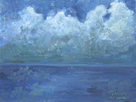 """Cloud Study Nocturne, 5"""" x 7"""", Puerto Rico"""
