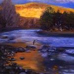 Highwatch -autumn light illuminates fisherman