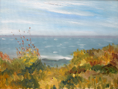 """Cape Ann, oil on canvas, 11"""" x 14"""""""
