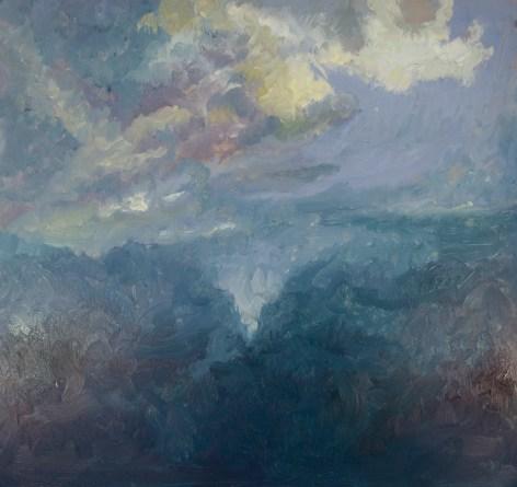 "Cloudscape, 18"" x 18"", Oil on Aluminum"
