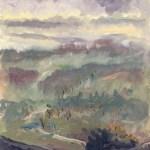 Jill Nichols oil plein air painting, Farnese,
