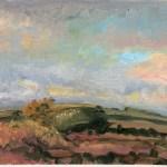 Jill Nichols oil plein air painting, Farnese, Italy