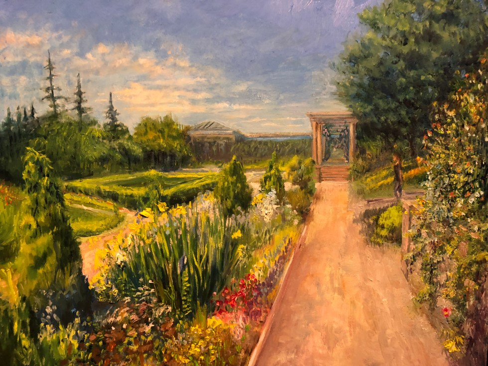 Jill Nichols, Harkness Memorial Park oil on canvas