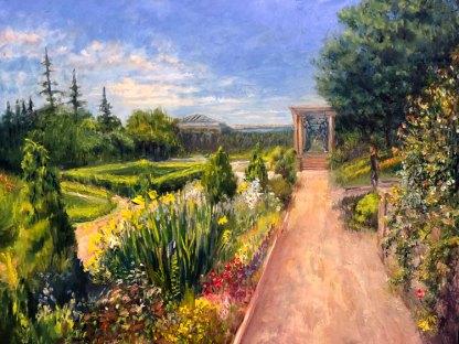 Formal garden at Harkness Memorial Park
