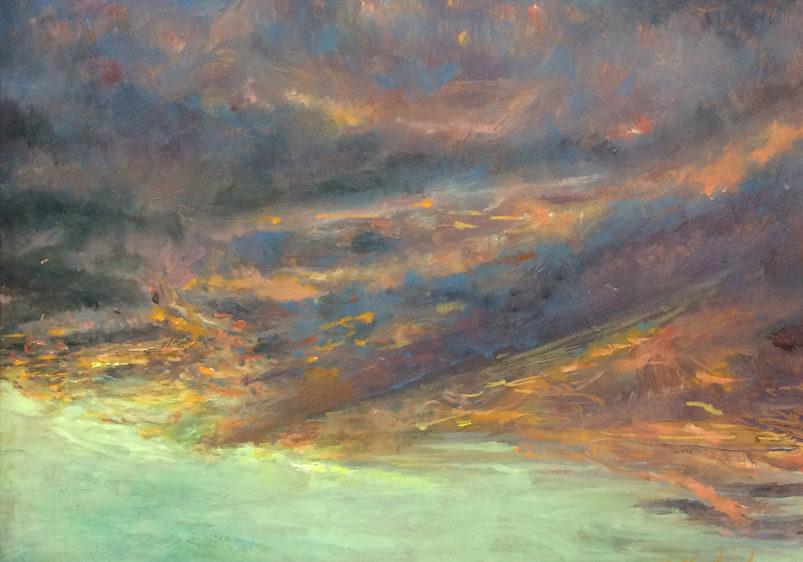 cloud painting scarlet