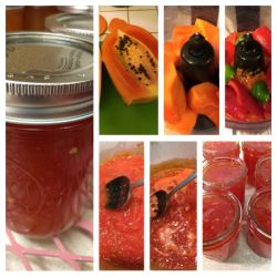 Red Pepper and Papaya Jam