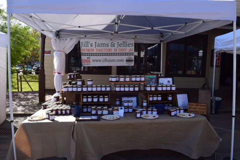 Show booth for Jill's Jams and Jellies
