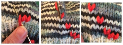 Duplicate Stitch: Horizontal & Diagonal