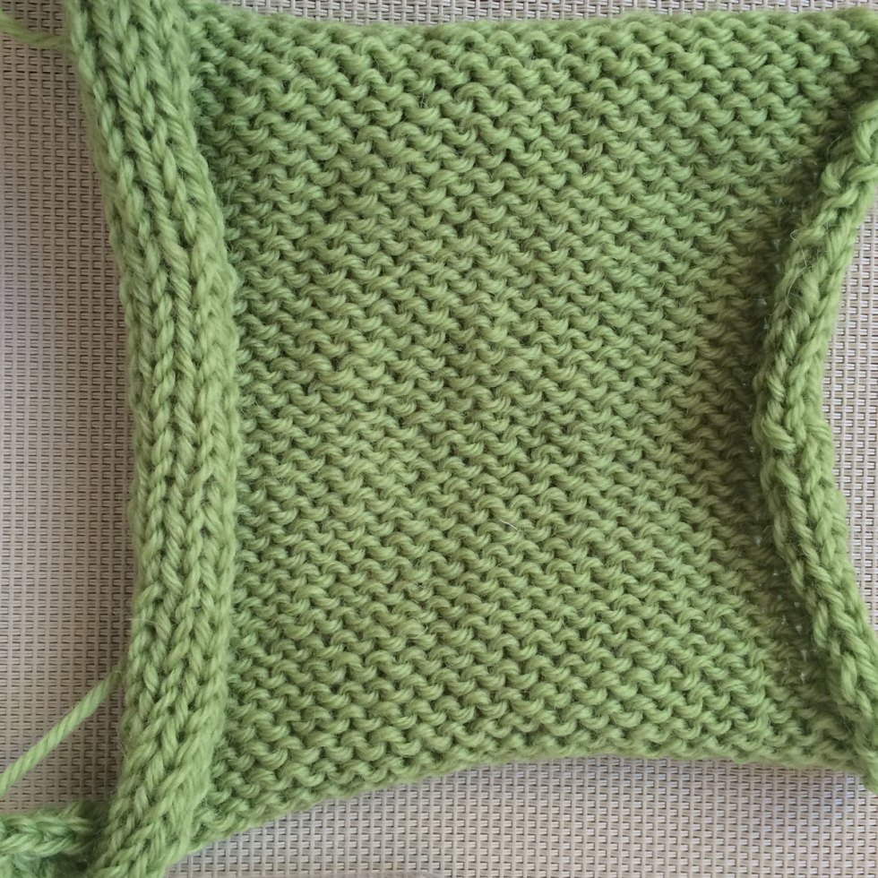 Rev St st or Reverse Stockinette stitch