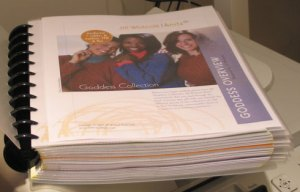 Hard Copy of Goddess Collection Patterns.  349 pages