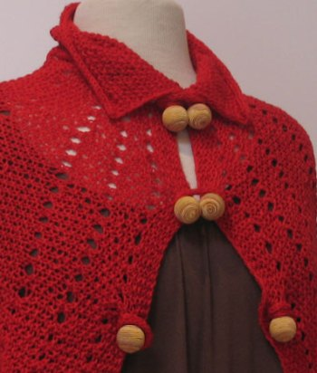 Red Windsor Capelette Front Detail 2