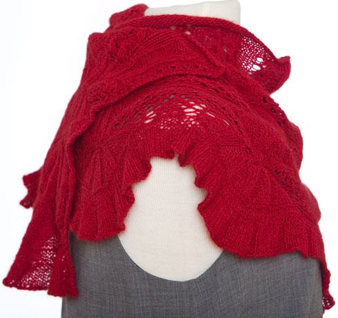 Remarkables Shawlette wrapped and viewed from the side