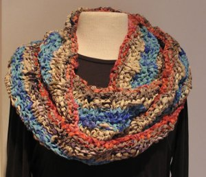 Over the Shoulders Esperance Cowl in Soft Recycled Silk Ribbon