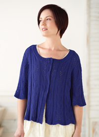 Beginner Lace Cardigan by Jill Wolcott Knits