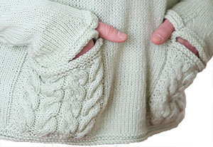 Finishing: Obstacles in Knitting, Meath Pullover pockets & thumb openings