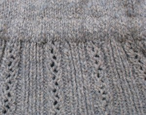 Finishing: Obstacles in Knitting, Silica Bodice elastic in waist casing