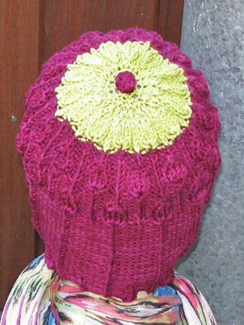 Lisse Hat Pattern Cerise-Back