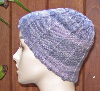 Lisse Hat Pattern Lavendar-Side-View2