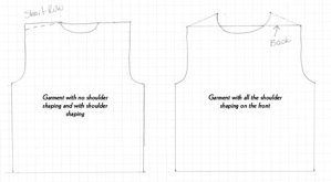 Shoulder Shaping: Garments