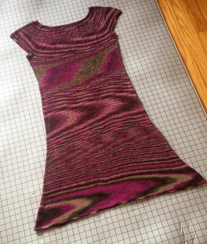 Holly Chayes' Self-Made Wardrobe Project: Handknit dress