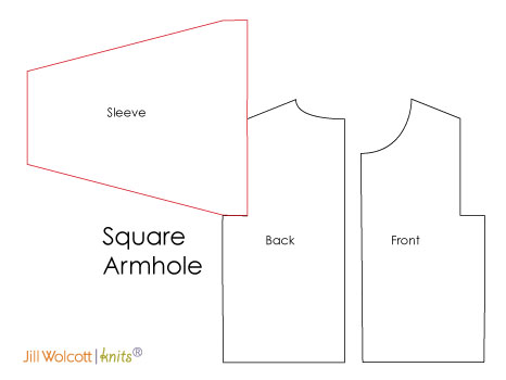 Sleeve Cap: Square Armhole