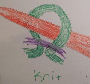 Returning stitches: correct orientation of knit
