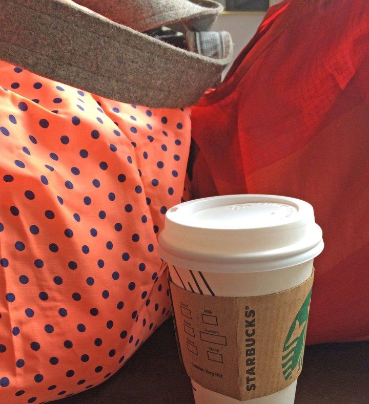 List Technique: Groceries, purse, latte