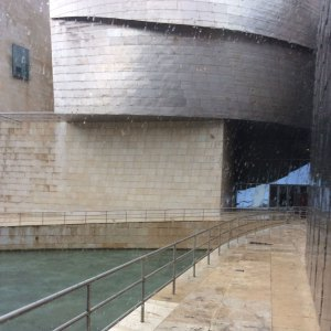 Spring 2017 Travel: Pouring rain at the Guggenheim