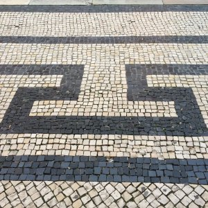 Spring 2017 Travel:Lisbon sidewalks