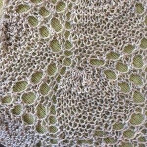 Challenge Yourself: Belon shawl blocked