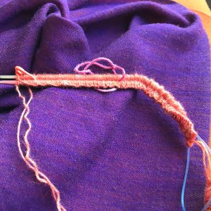 Finishing Line: 188 stitches on needles