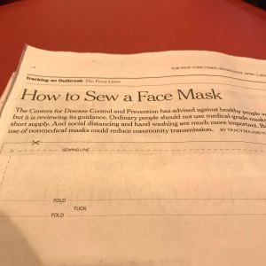 Lack of Focus: Sew a Face Mask