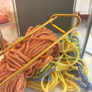 Waste Yarn and stitch holders