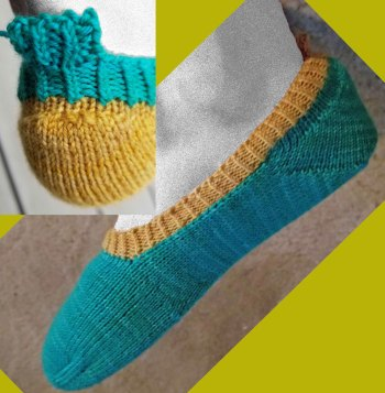 Memphis Test Knit: Toesies & Footsies Basic Footsie with Heel Tab