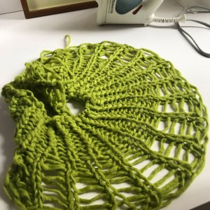 Pull Sufficient yarn for BO over dropped stitch